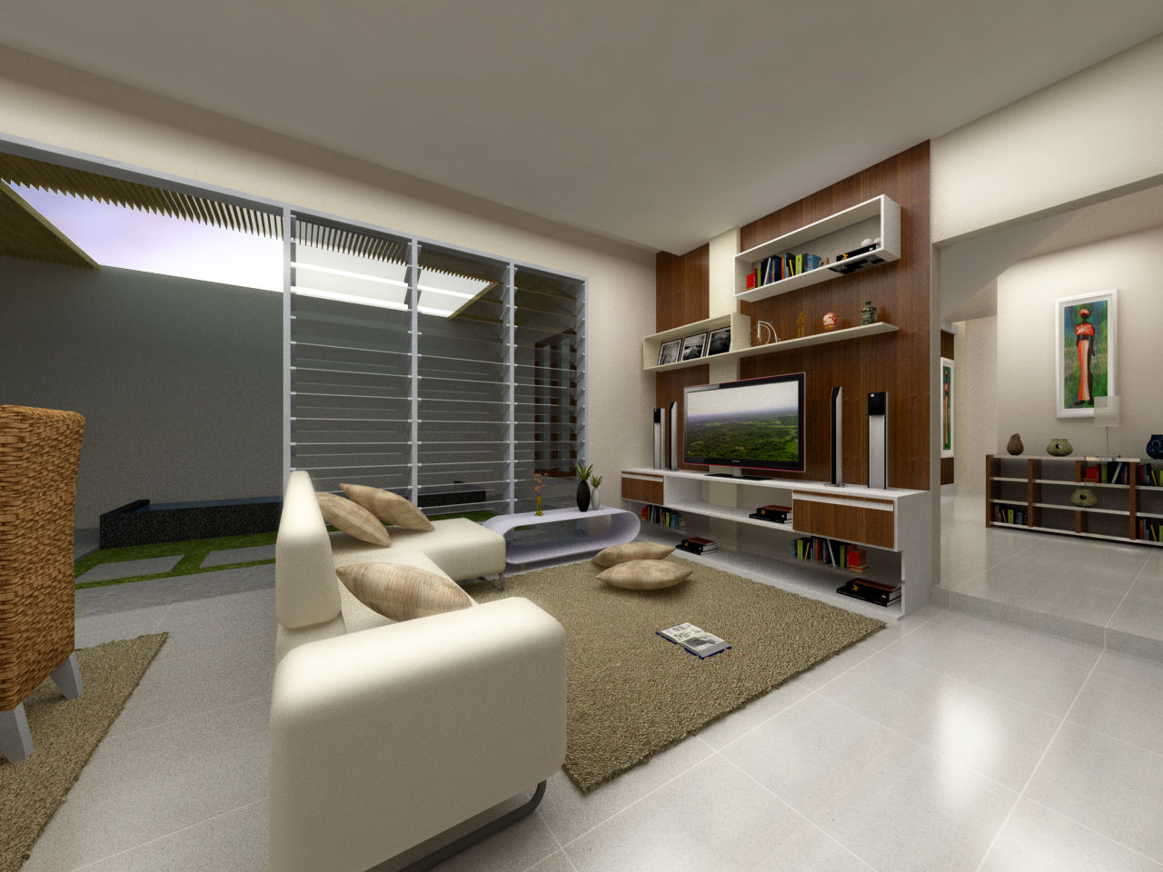 interior project interior house in lampung past design