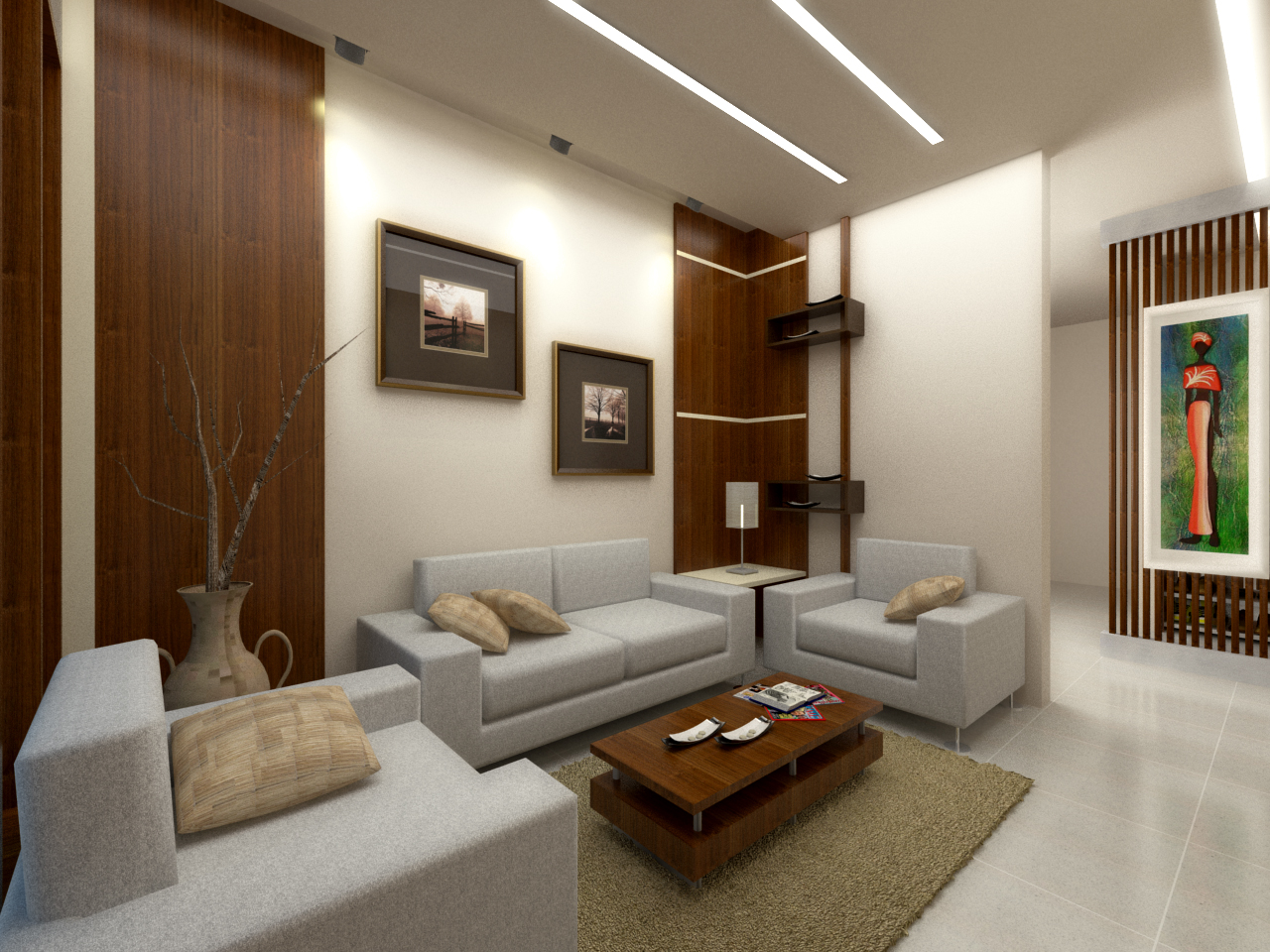 Interior project interior house in lampung past design for Design apartment yang simple